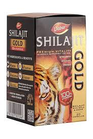 Dabur Ayurvedic Shilajit Gold Capsules - 20 Pieces (With Kesar)